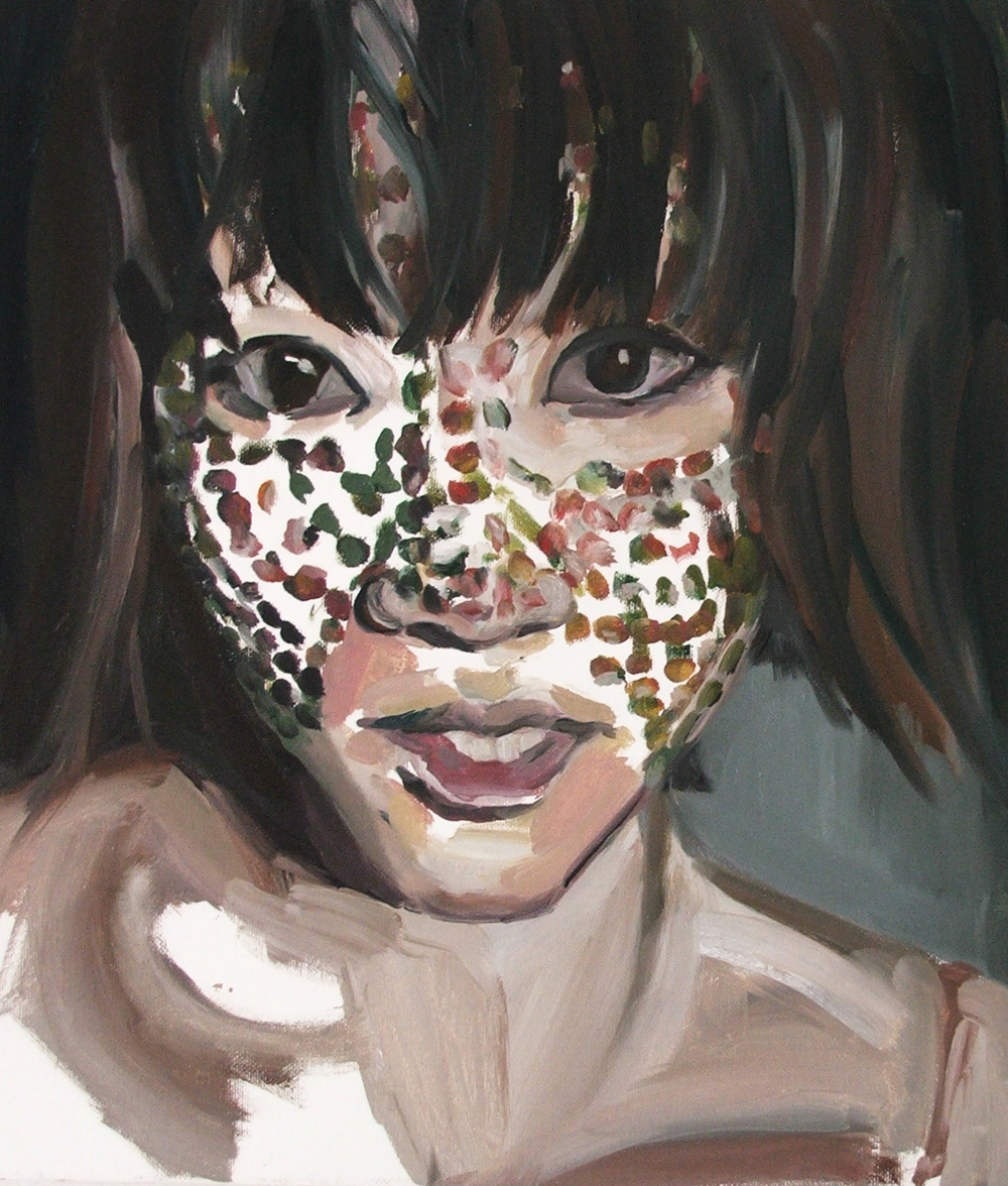 A Dotted Girl, Oil on canvas, 40X35 cm, 2010