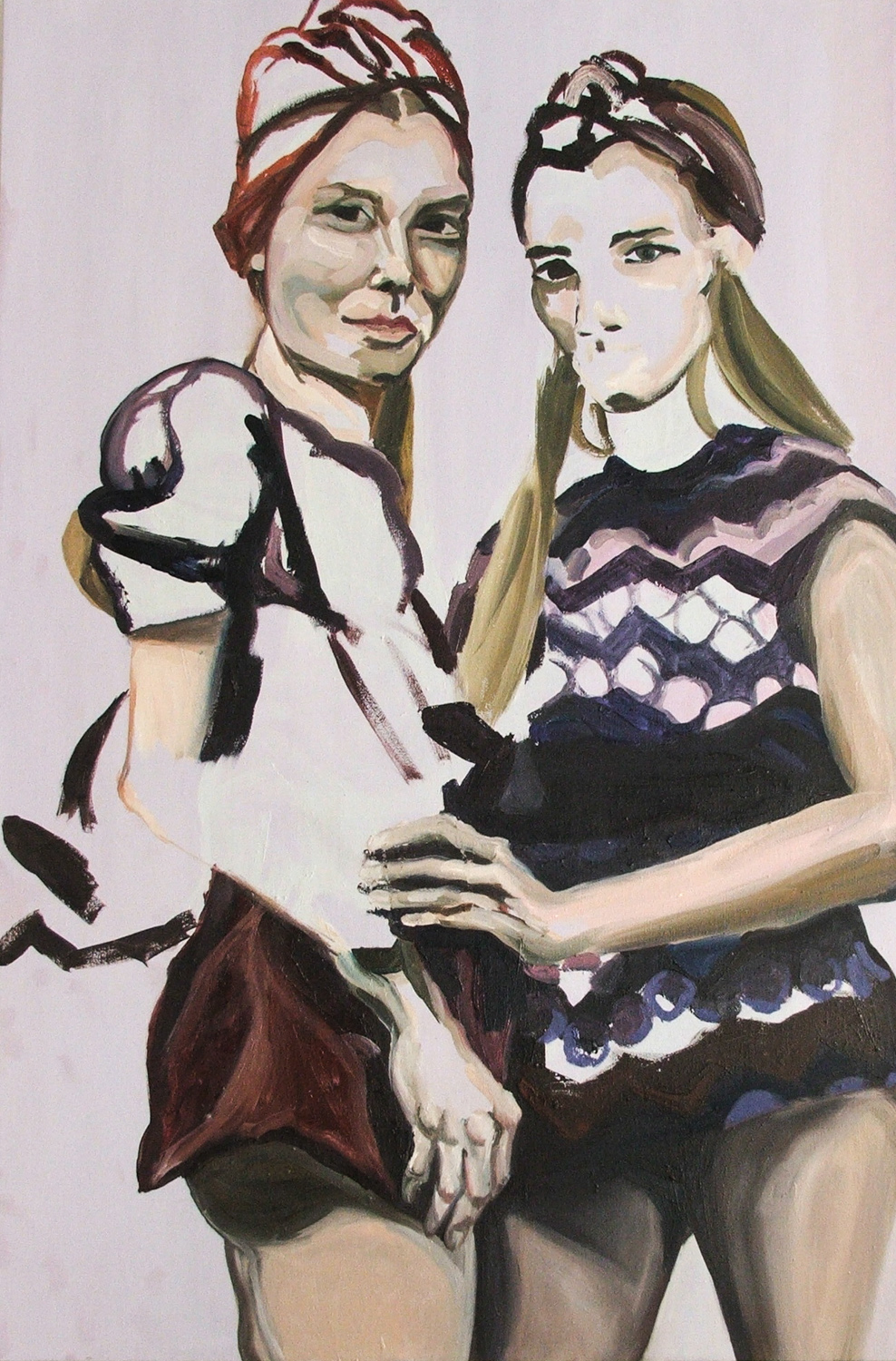 The Dutch Models, Oil on canvas, 120X80 cm, 2010