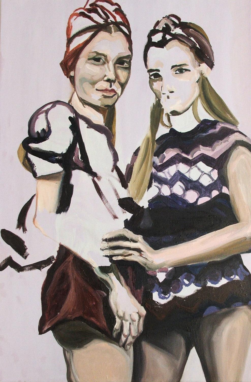 The Dutch Models, Oil on canvas, 120X80 cm, 2010
