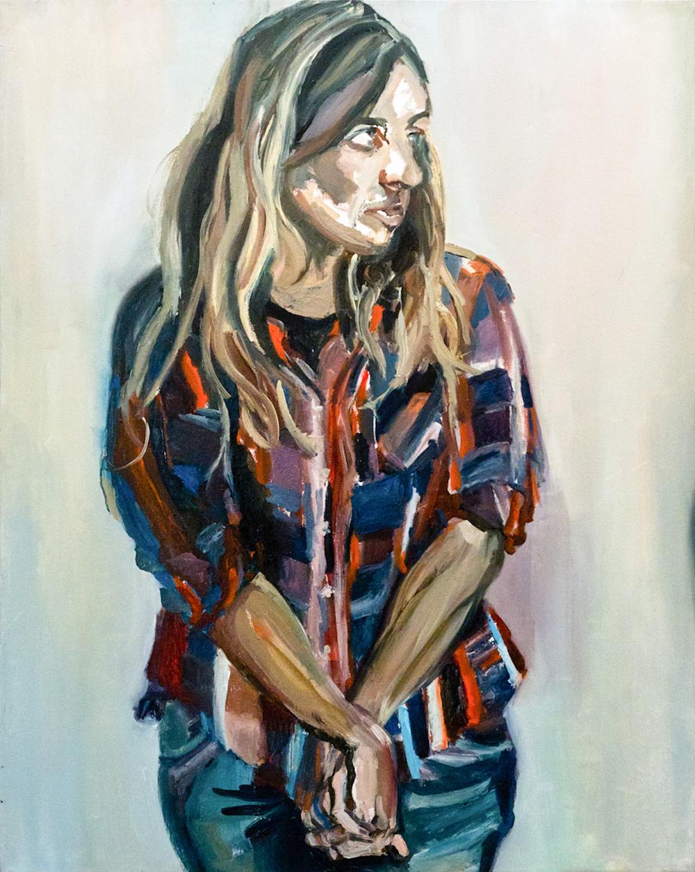 Naama, Oil on canvas, 100X80 cm, 2012