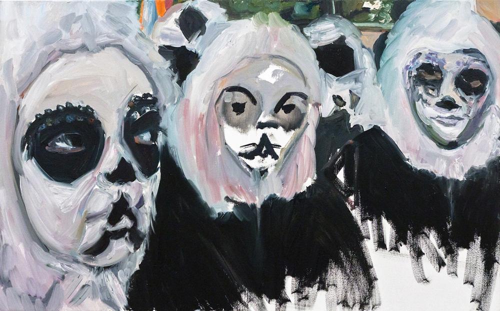 Pandas. Oil on canvas, 50X80 cm. 2012