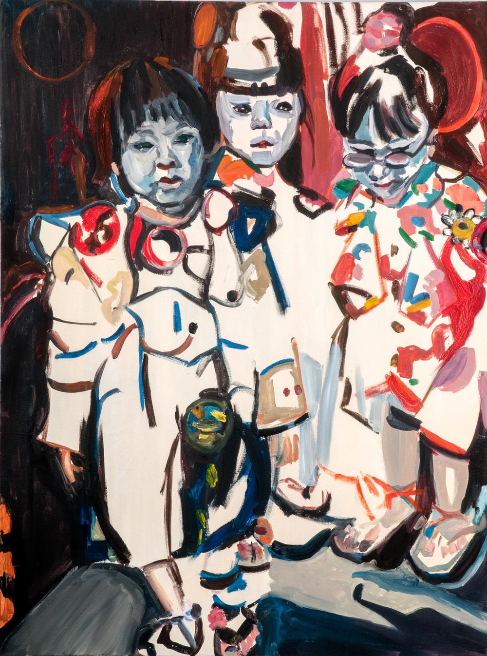 Japanese kids, Oil on canvas, 120X90 cm, 2010
