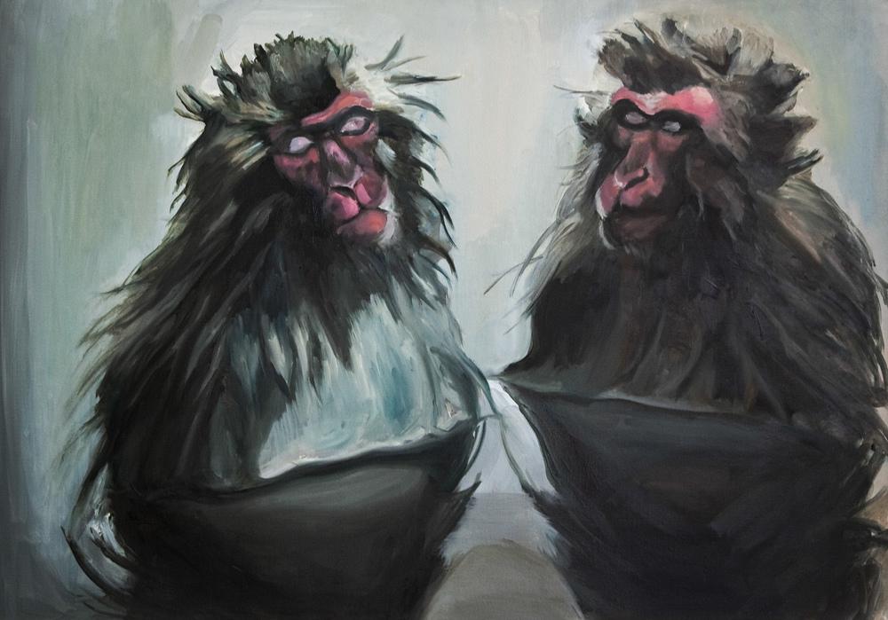 Monkeys, Oil on canvas, 70X100 cm, 2009