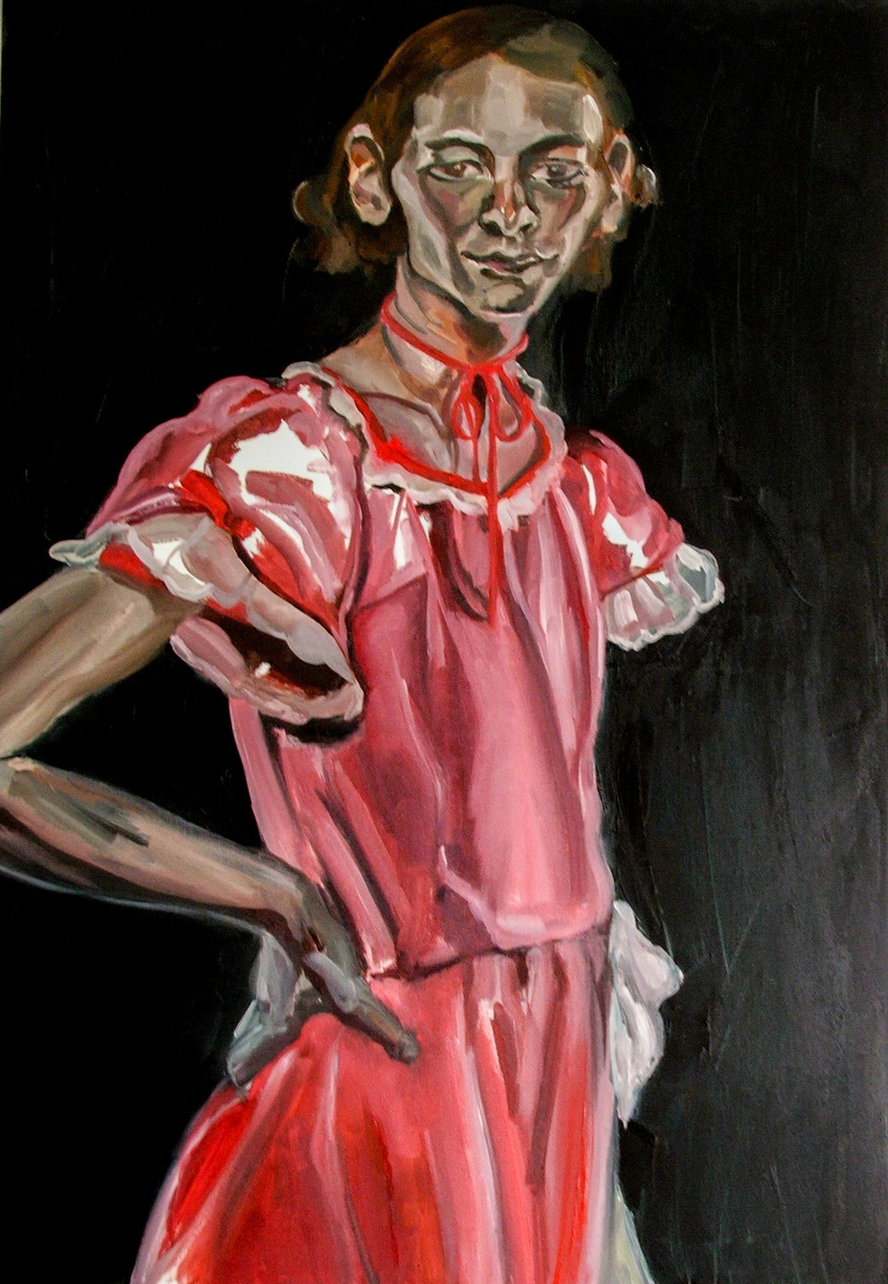 Red riding hood, Oil on canvas, 100X70 cm, 2009