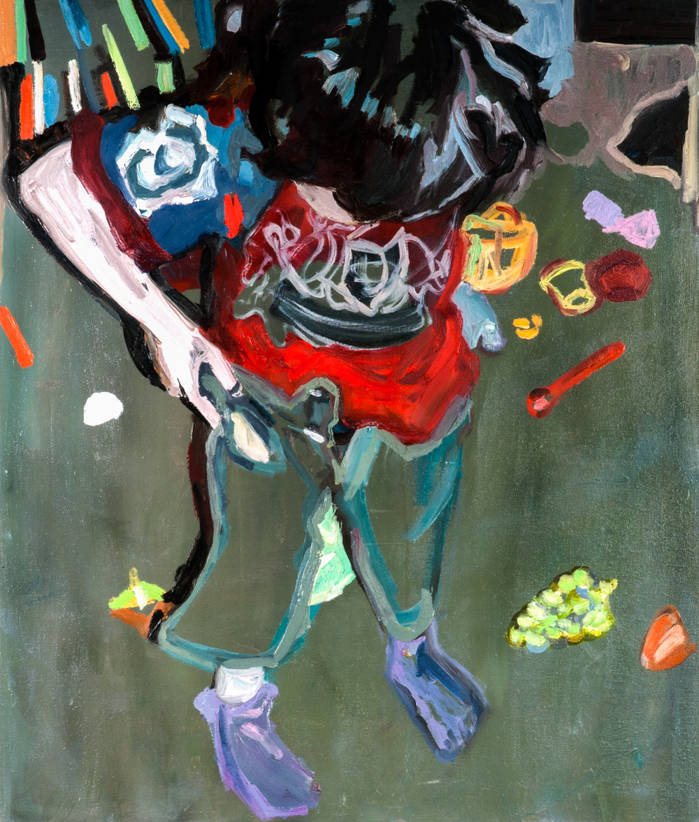 Hillel Gets Dressed on His Own, Oil on canvas, 70X60 cm, 2012
