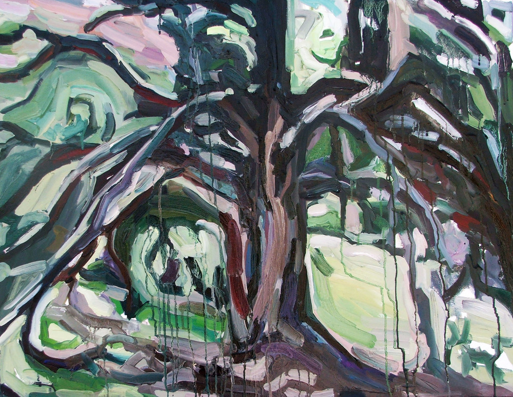 The tree, Oil on canvas, 70X90 cm, 2014