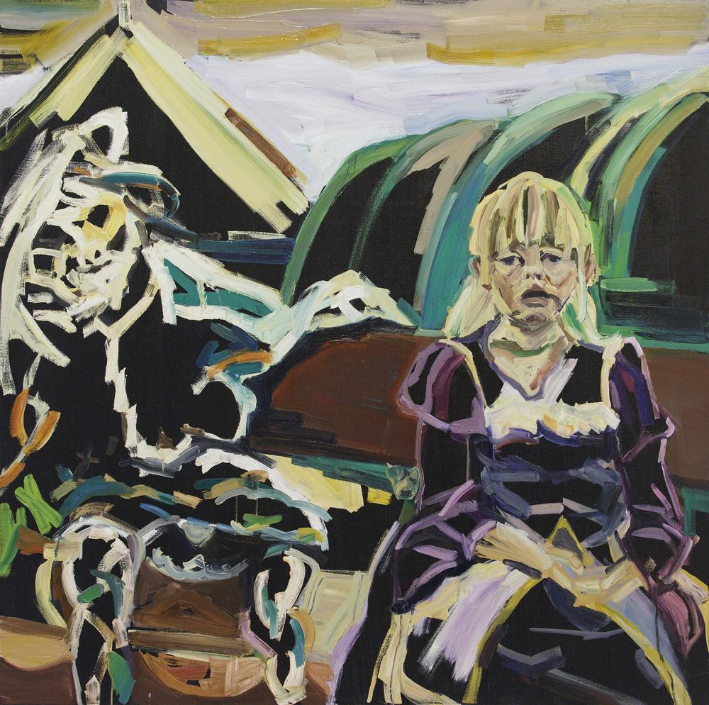 Angele's demon, Oil on canvas, 120X120 cm, 2014