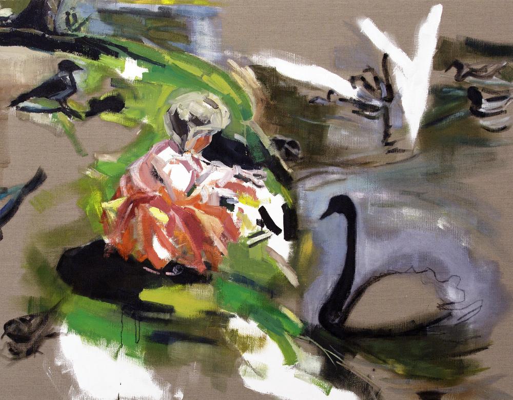 Clara, princess of the birds, Oil on canvas, 140X180 cm, 2014