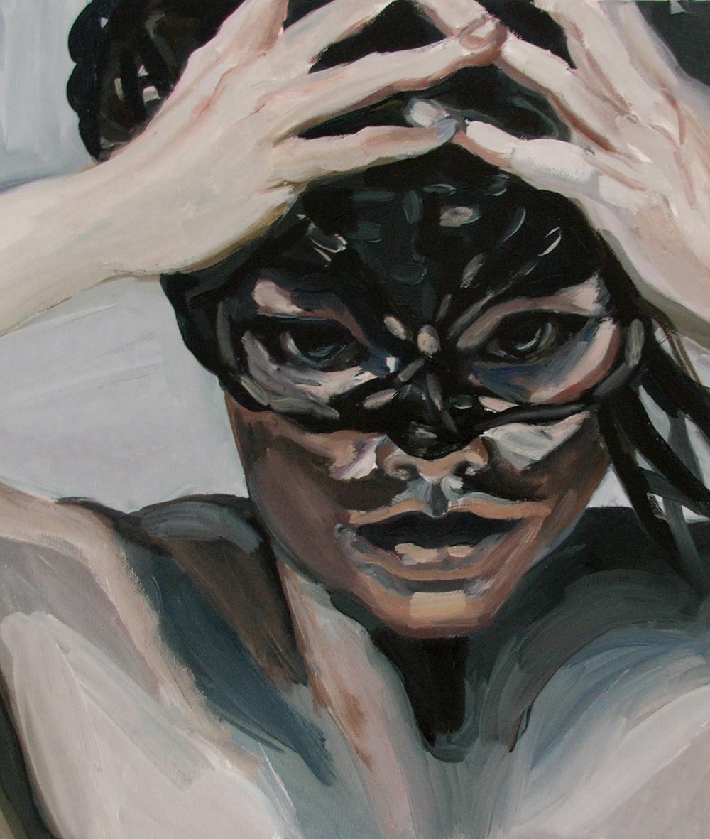 A braided woman, Oil on canvas, 40X35 cm, 2010