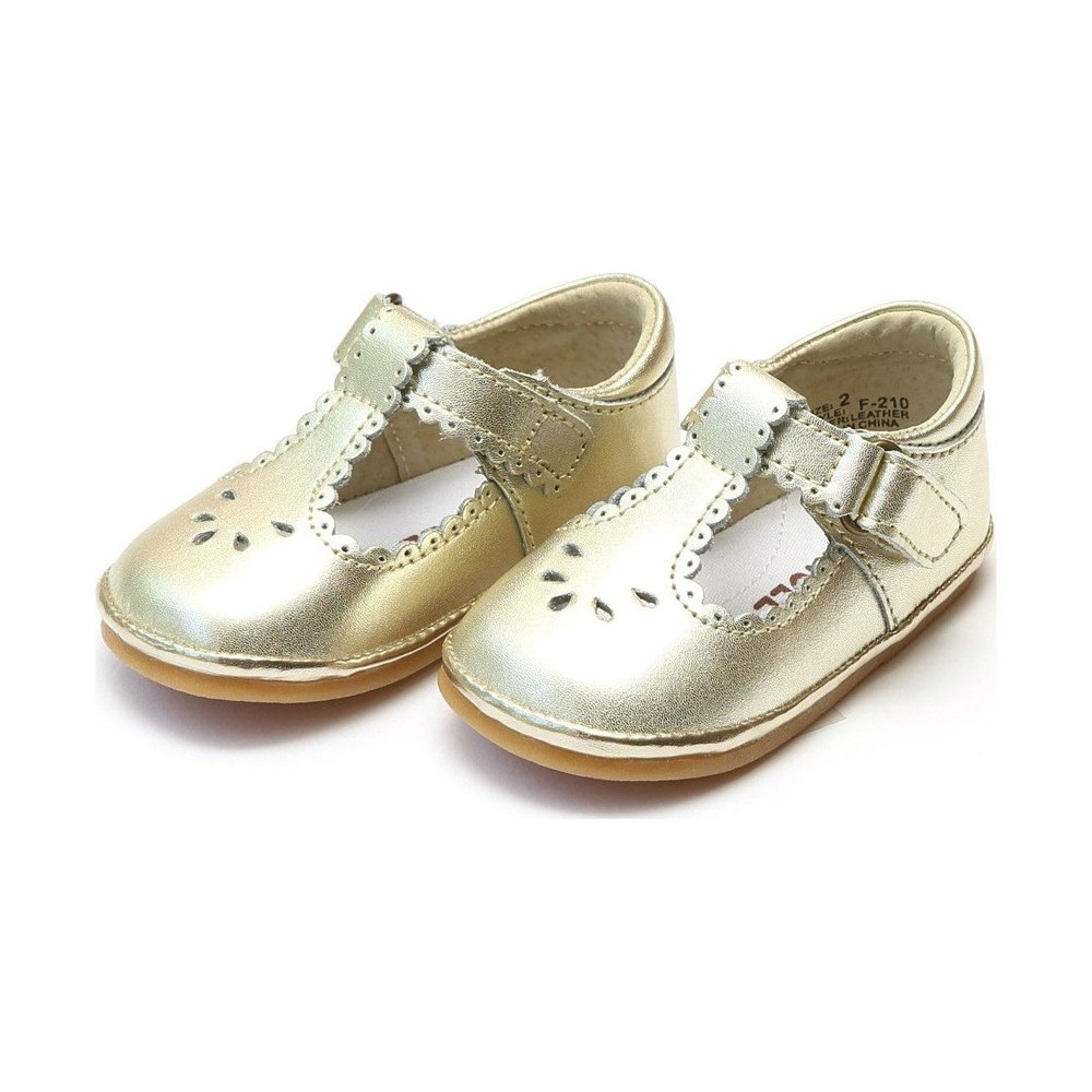 Angel Shoes Baby Dottie Scalloped T-Strap Mary Jane