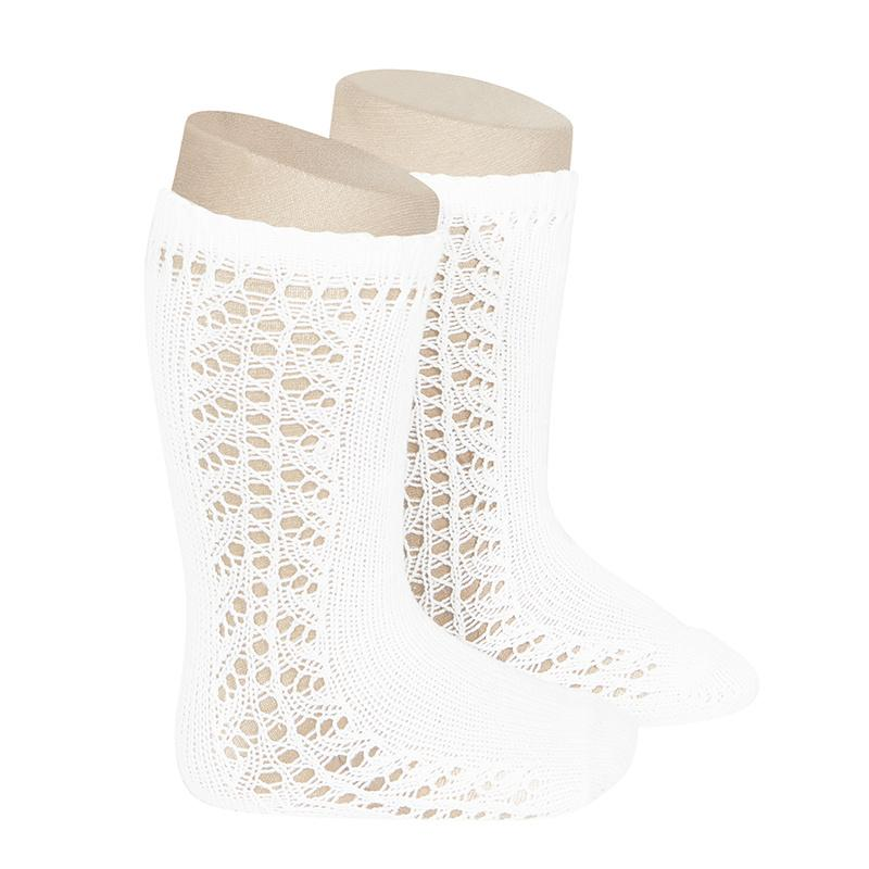 Loozieloo Side Openwork Knee Socks