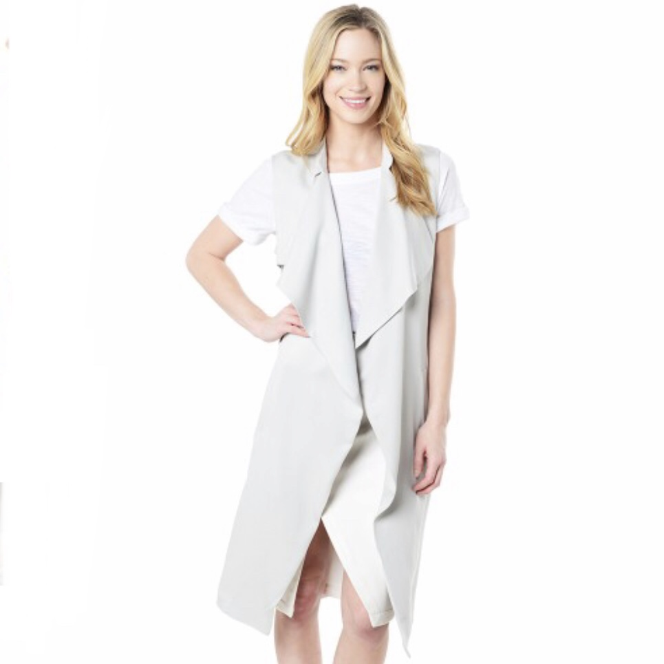 Cupcakes and Cashmere Bryce Long Tercel Vest