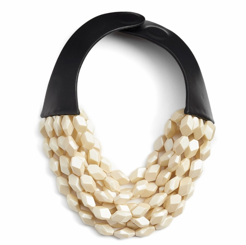 Oval Bella Beaded Collar Necklace
