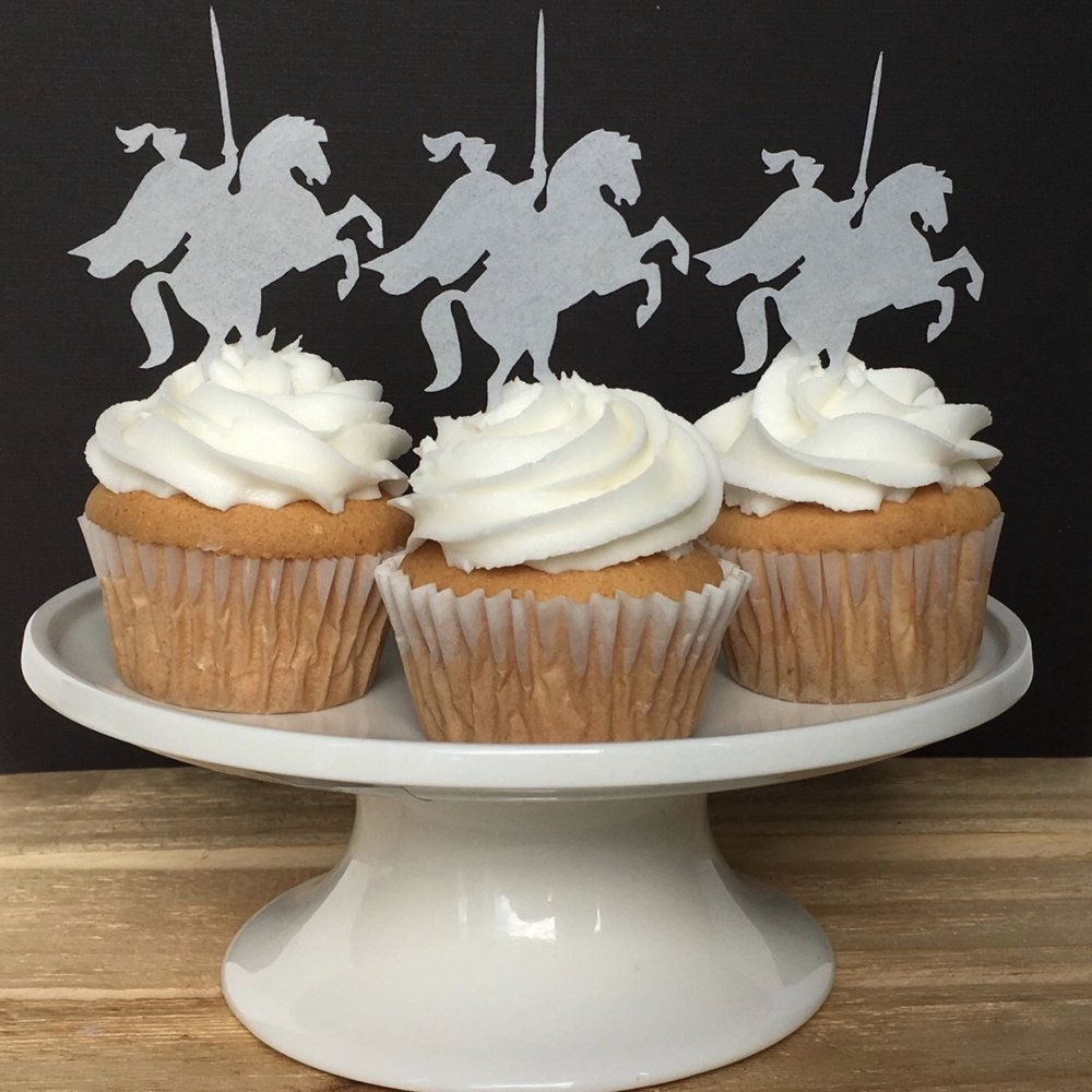 Knights on Horseback Cupcake Toppers
