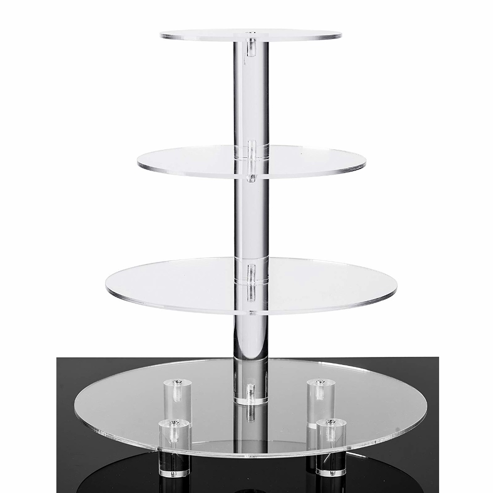 4 Tier Acrylic Glass Cupcake Stand