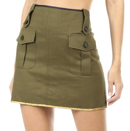 Harvey Haircloth Mini Skirt