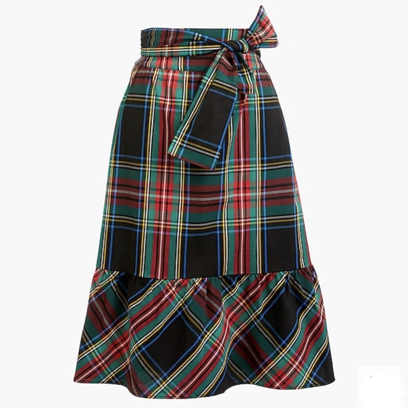 J. Crew Factory Big Bow Midi Skirt