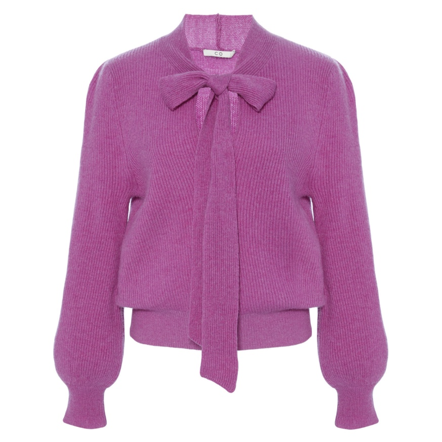Moda Operandi Co Pussy Bow Cashmere Knit Sweater
