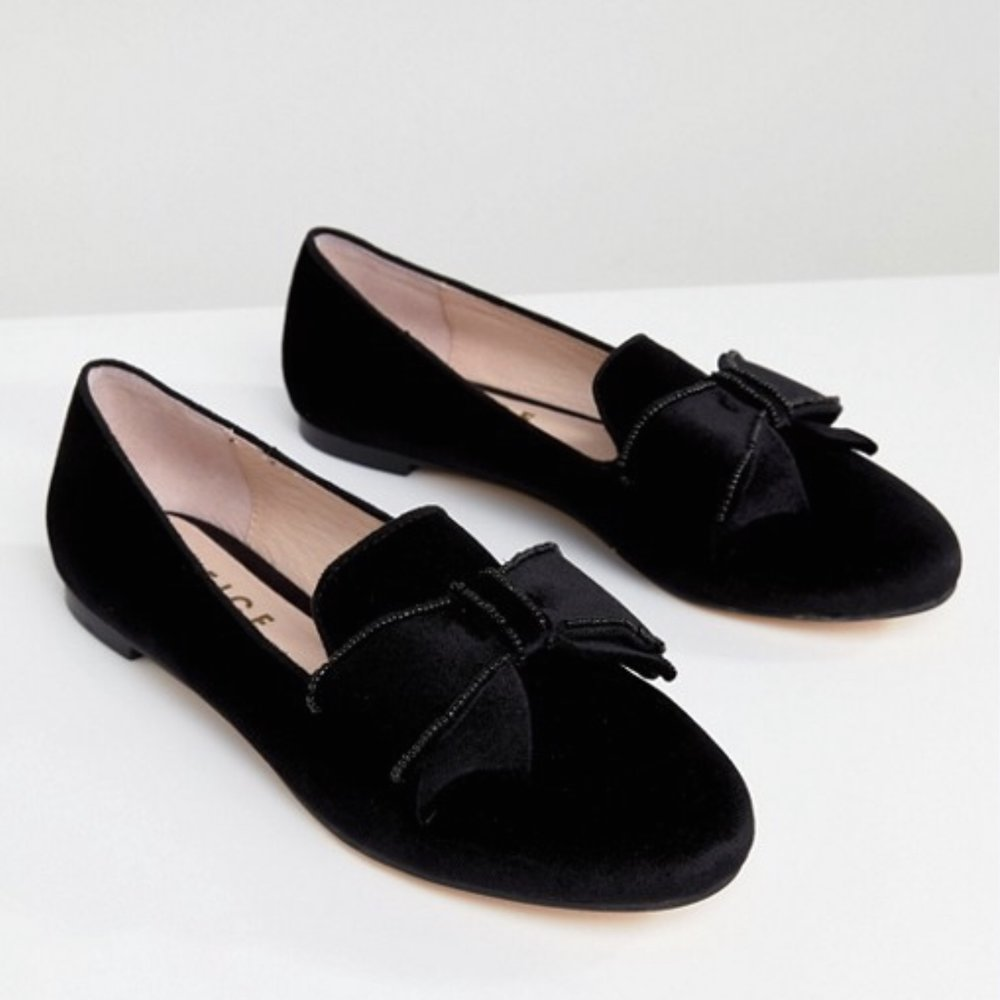 Asos Office Fortress Bow Flat Shoes