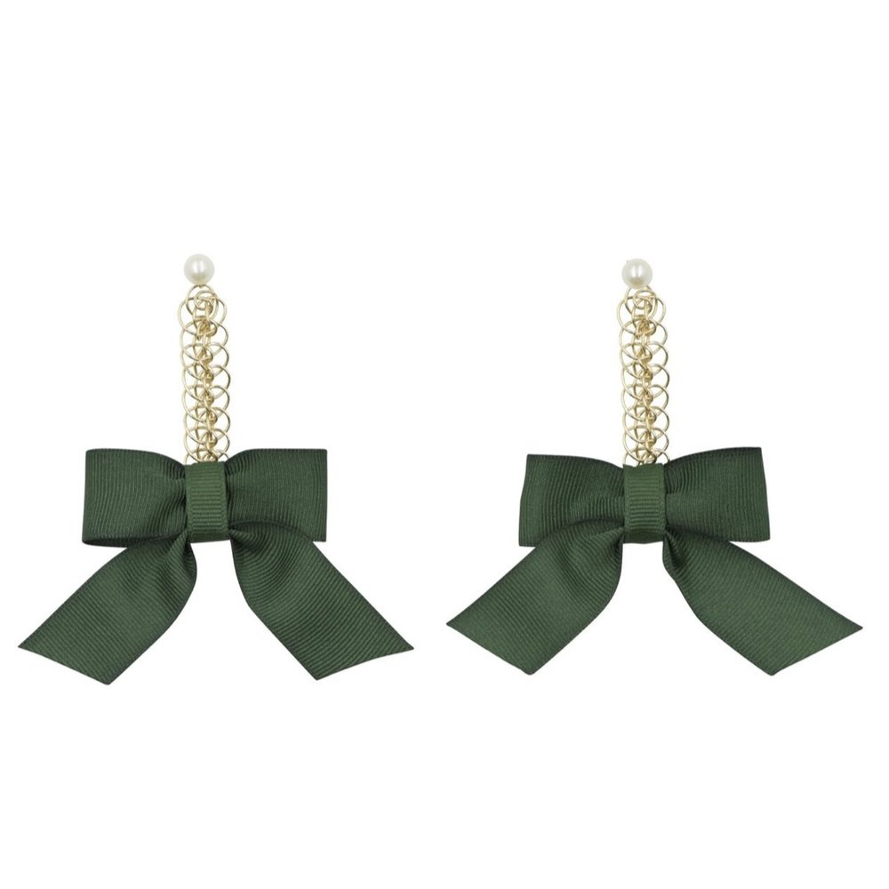 Cassandra King Polidori Natalie Bow Earrings