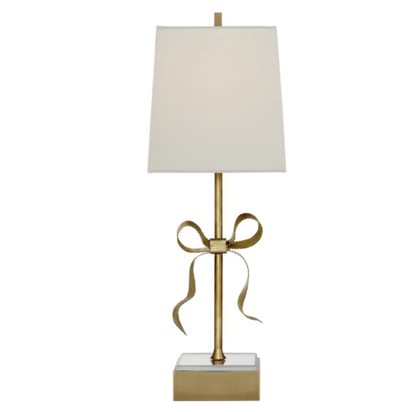Kate Spade for Visual Comfort Ellery Gros-Grain Bow Table Lamp