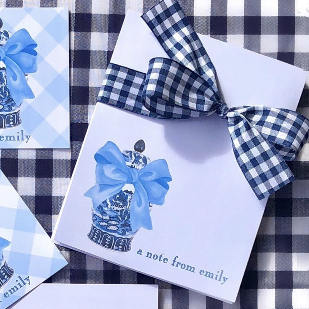Gingham Ginger Jars and Bows Gift Tags