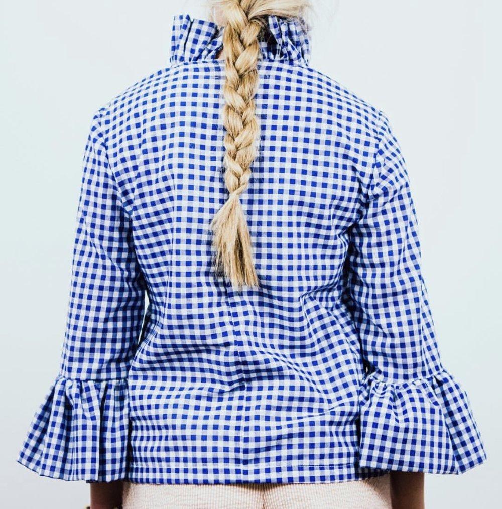 Elizabeth Wilson Designs Katherine Top in Blue Gingham