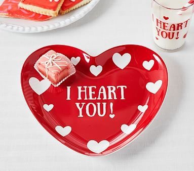 Pottery Barn - I Heart You! Plate