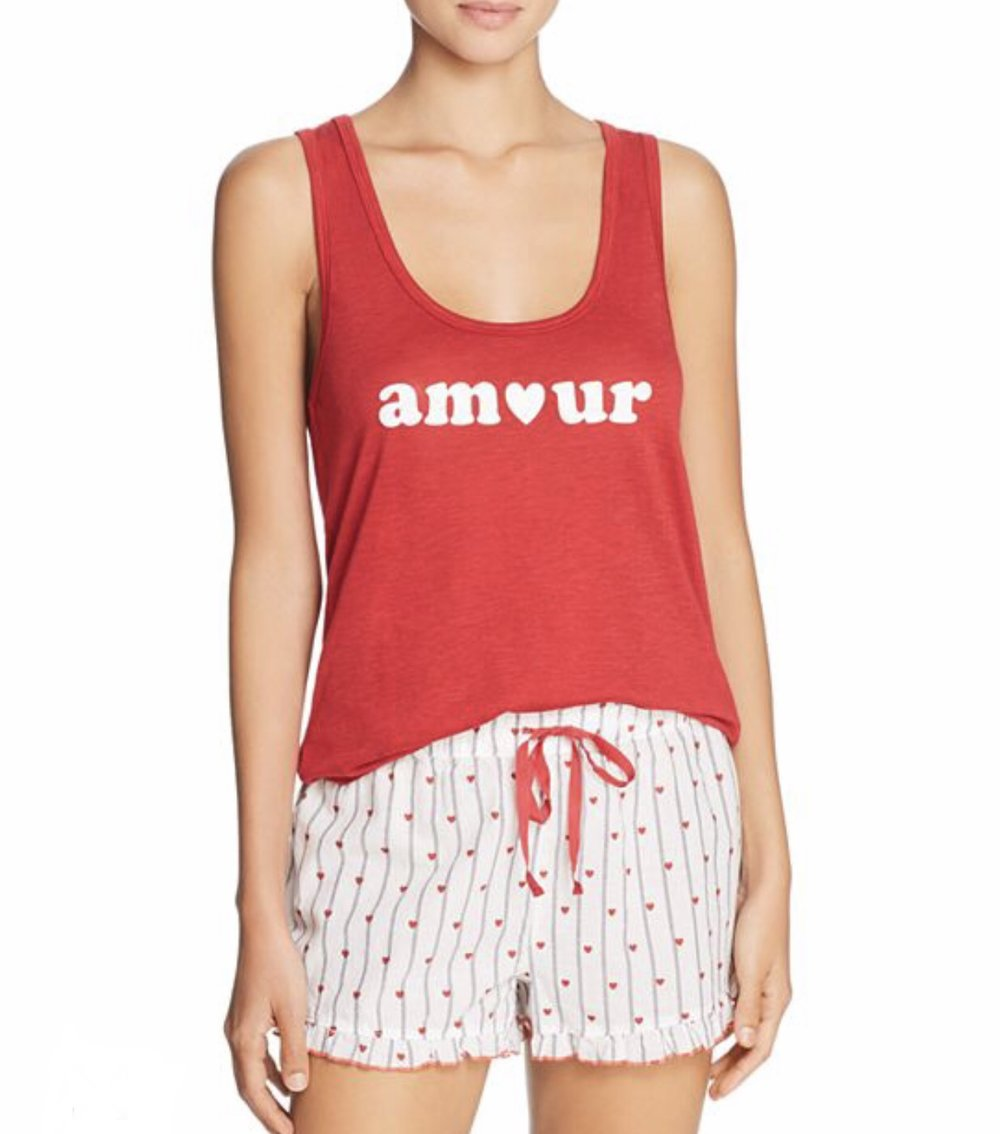 PJ Salvage - Amour Tank & Shorts PJ Set