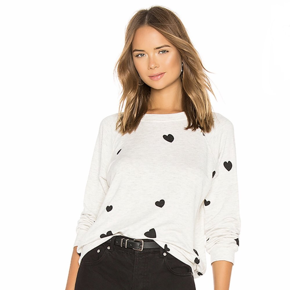 Monrow - Scattered Heart Sweatshirt
