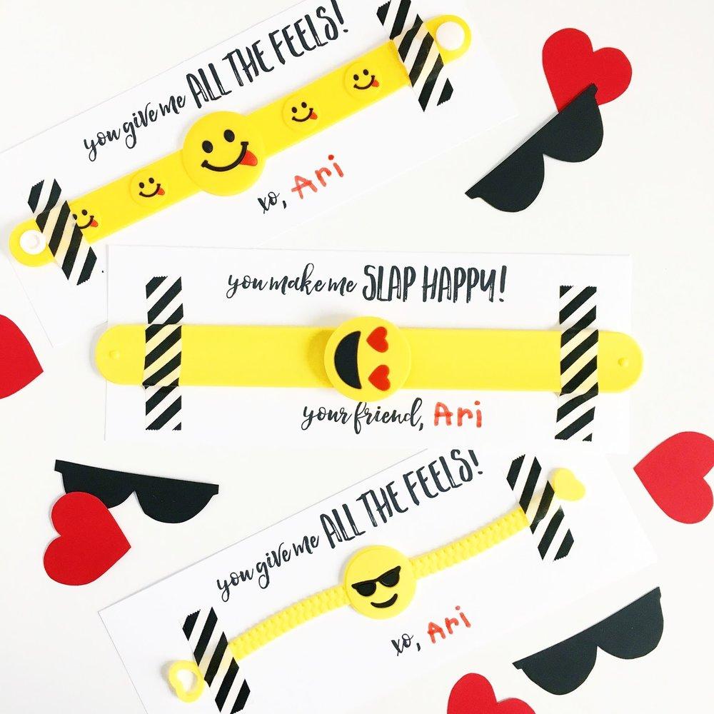 Love & Lion - Valentine Emoji Bracelet Printable
