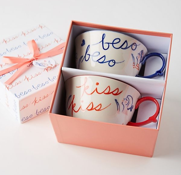 Libby Vander Ploeg - Kisses Mugs, Set of 2