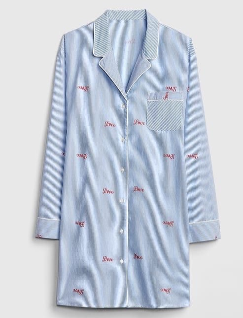 GAP - Love Poplin Pajama Shirt