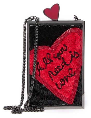 Alice + Olivia - Sophia All You Need Is Love Clutch