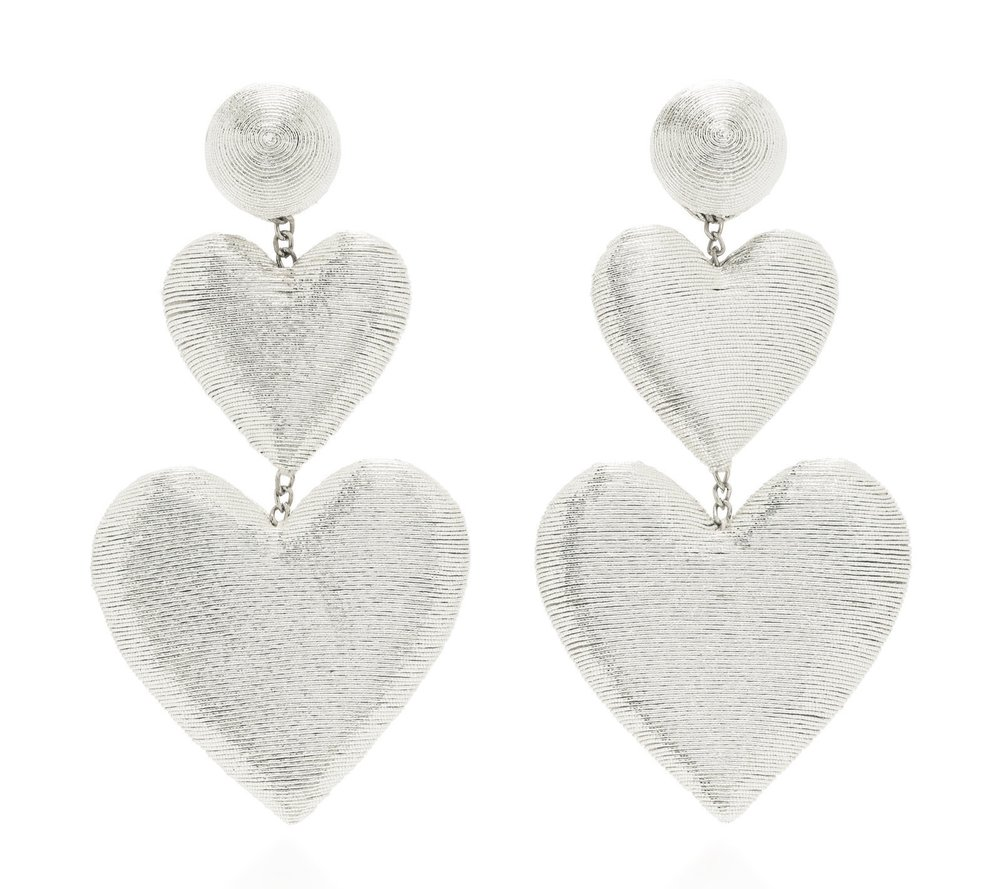 Rebecca De Ravenel - Exclusive Double Heart Silk Drop Earrings