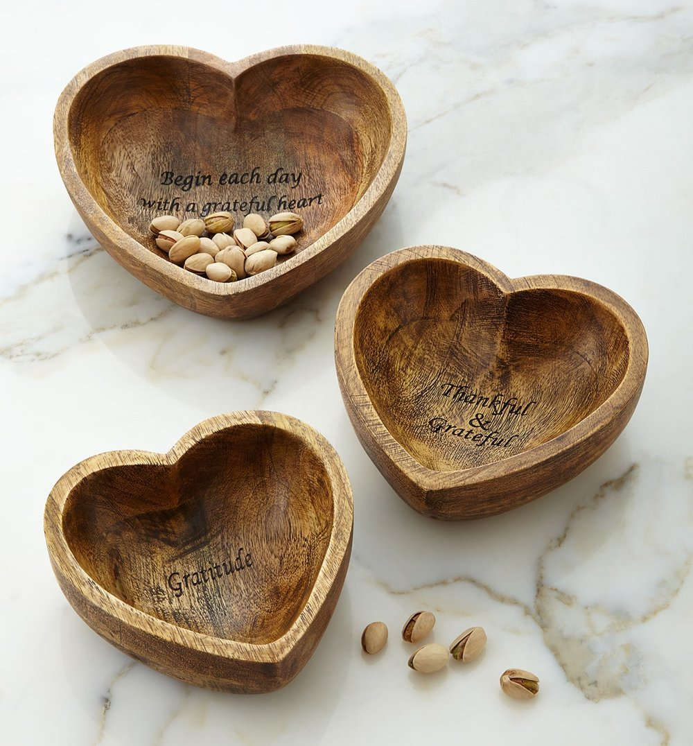 G G Collection - Gratitude Bowls, 3-Piece Set