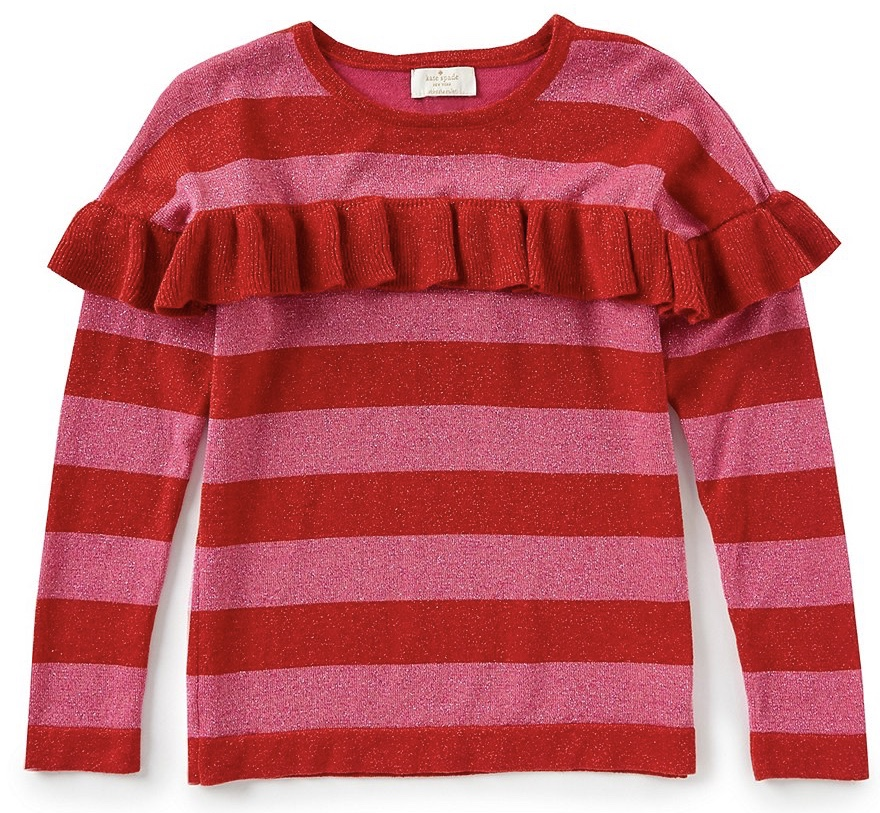Kate Spade - Big Girls 7-14 Ruffled Metallic Sweater