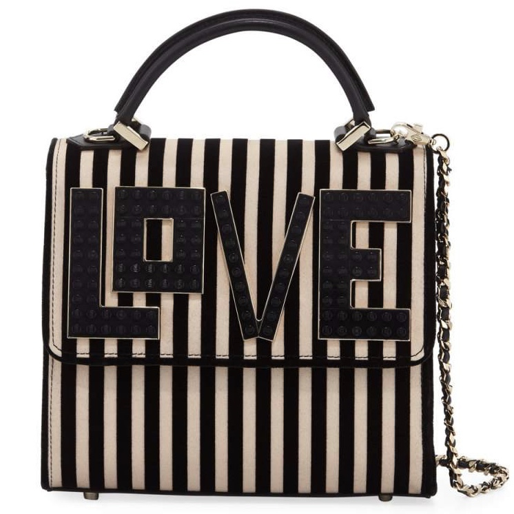 Les Petits Joueurs - Alex Mini Black Widow LOVE Chain Shoulder Bag