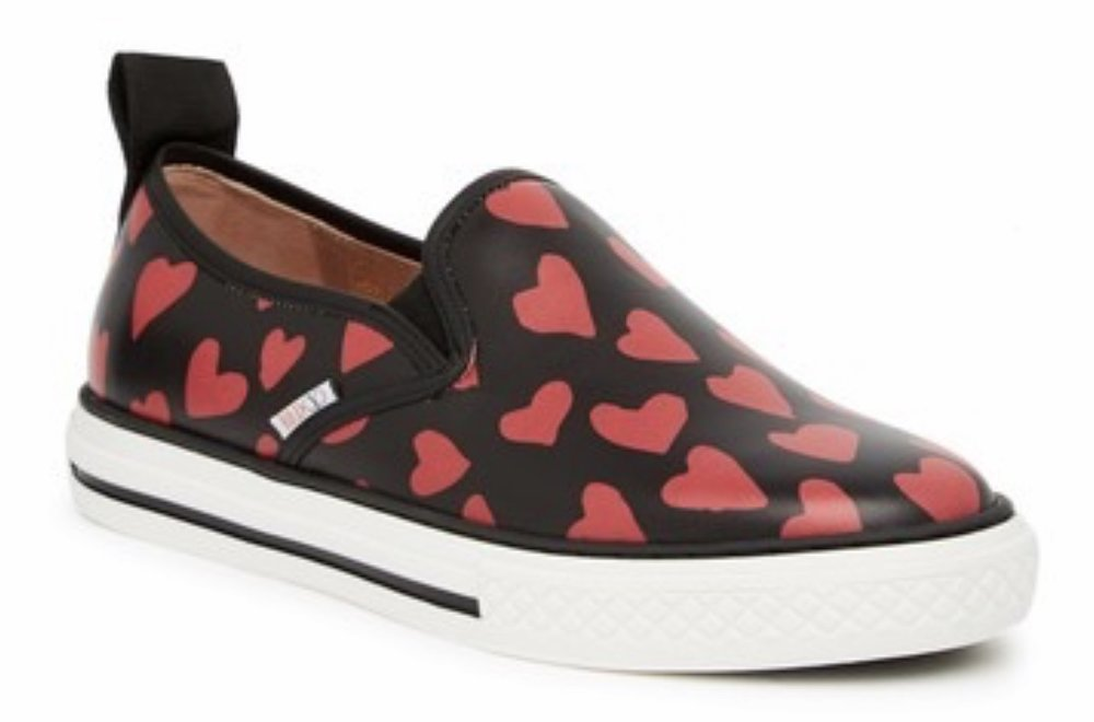 RED Valentino - Heart Print Slip-On Sneaker