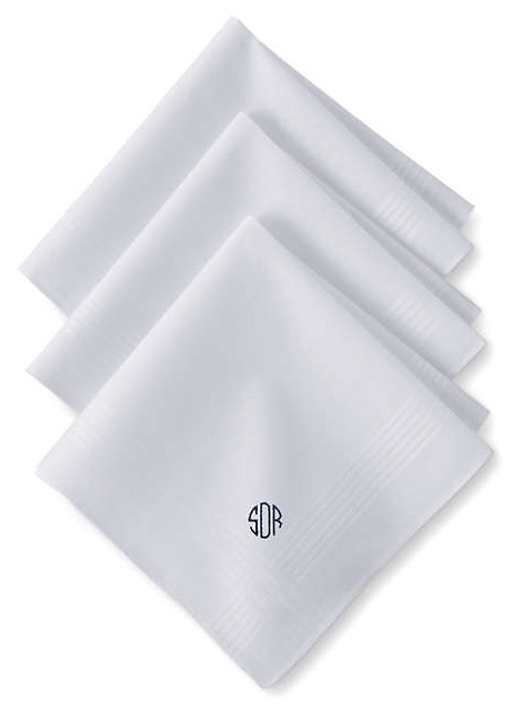 Land's End - Personalized Men's Handkerchiefs (3-pack)