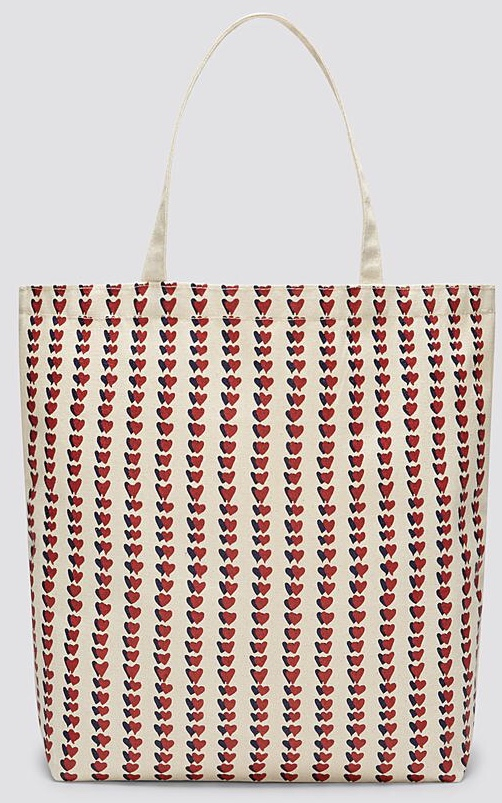 Draper James - Canvas Heart Stripe Tote