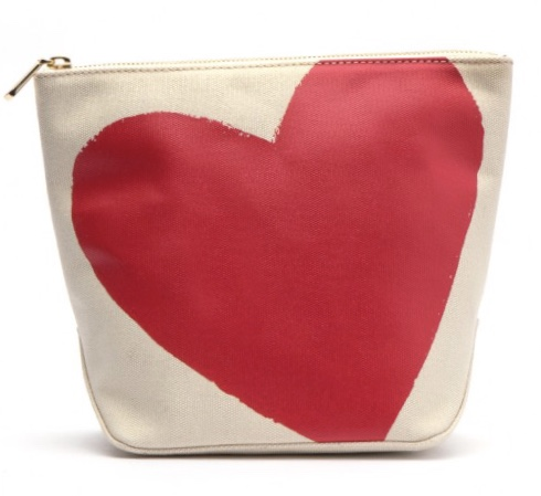 Frances Valentine - Tall Canvas Heart Cosmetic Bag