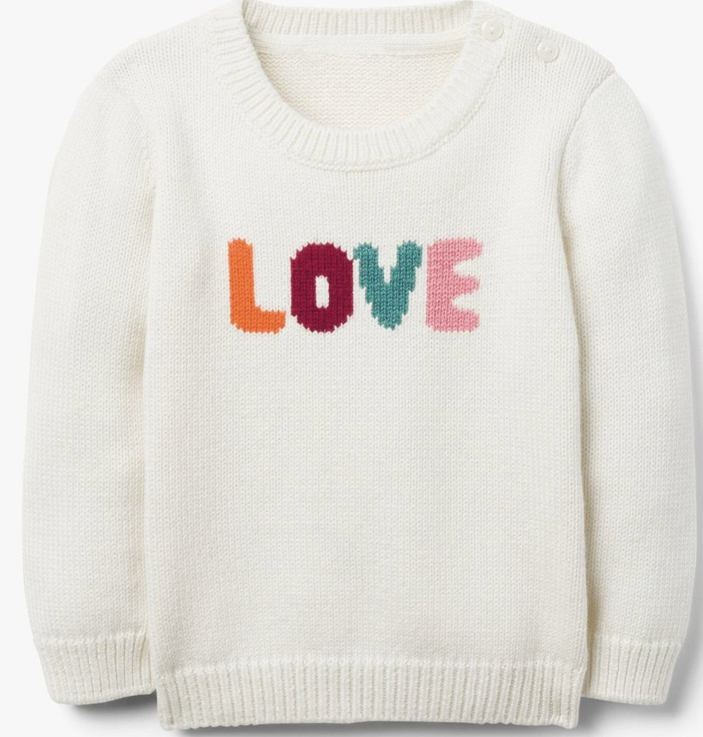 "Gymboree - ""Love"" Sweater"