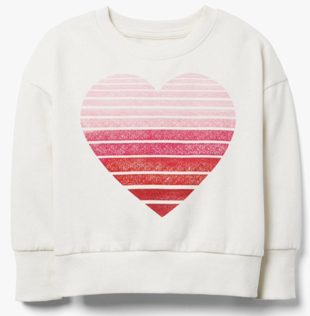 Gymboree - Ombre Heart Stripe Sweatshirt