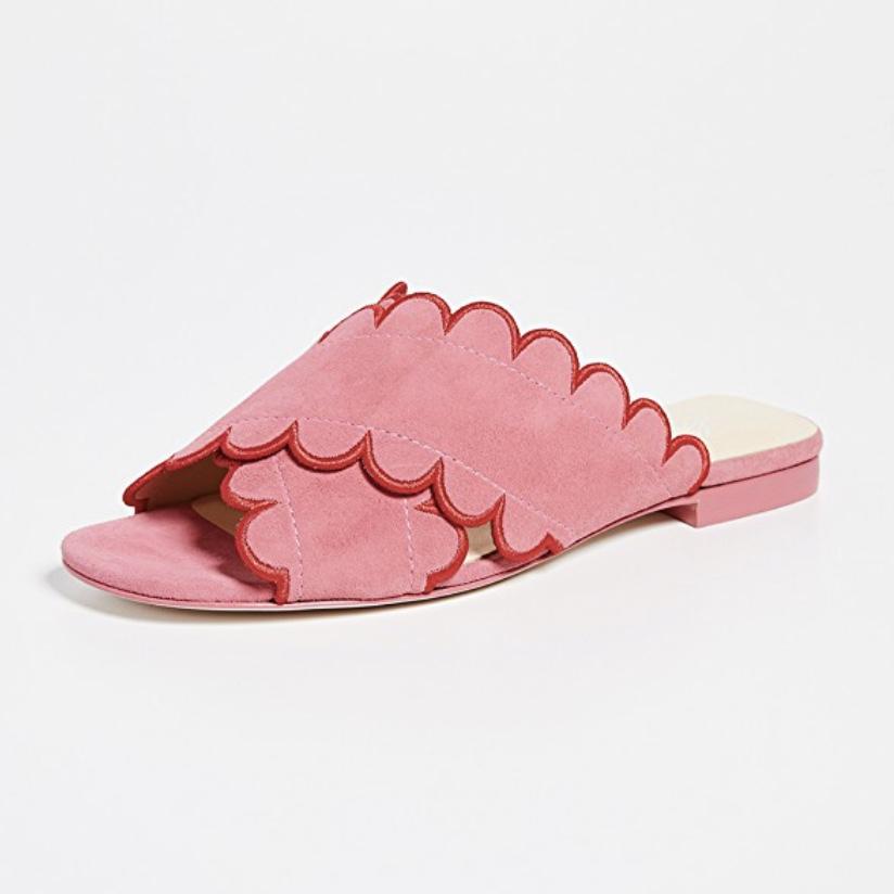 Isa Tapia - Nueva Scallop Flat Sandals