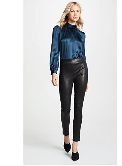 3. Veronica Beard Indy Leather Leggings