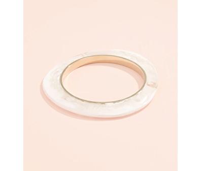 6. Dinosaur Designs Marbled and Metal Thin Bangle Bracelet