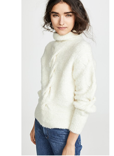9. Theory Mohair Cable Turtleneck