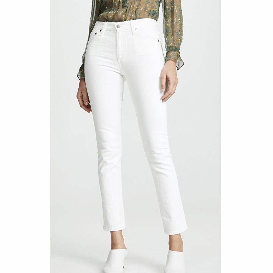 24. AG Mari Slim Straight Jeans
