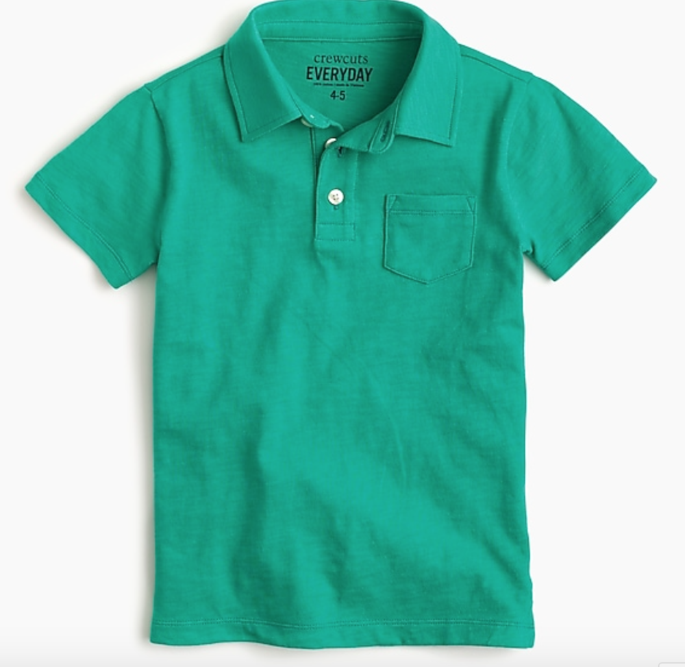 J. Crew Boys Slub Cotton Polo Shirt -